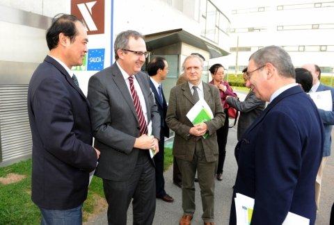 Imaxes visita IGAPE. - Xornadas sobre autonomías en España e China: Galicia como exemplo
